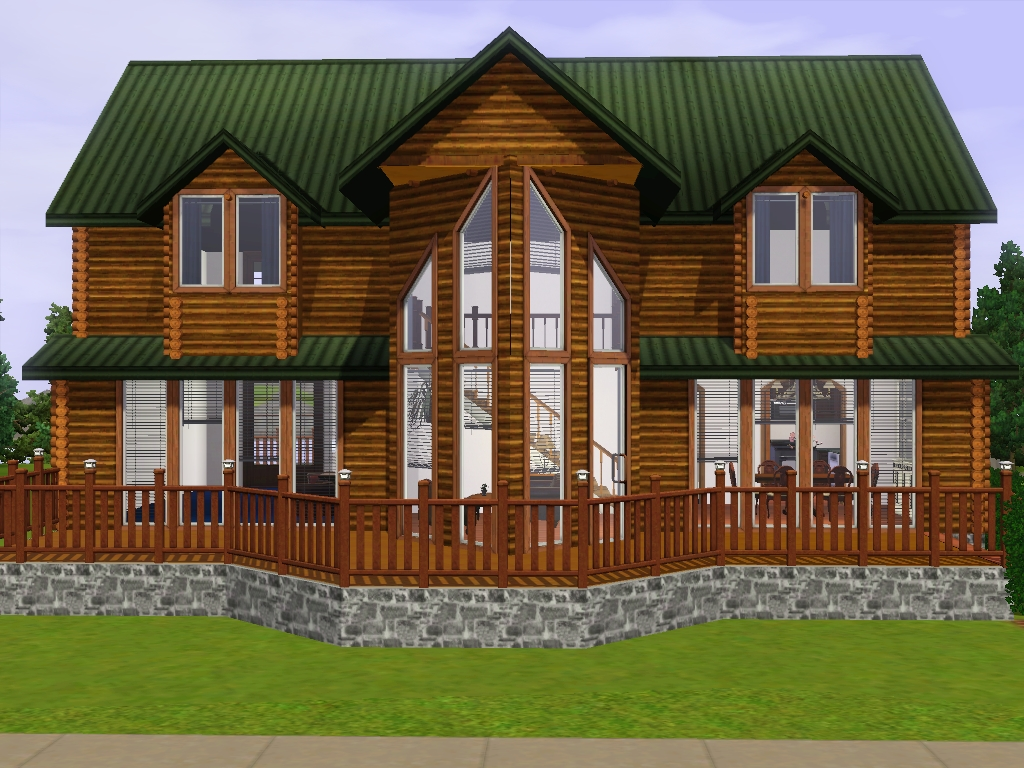 Mod the sims log home accessory set for Accessory house