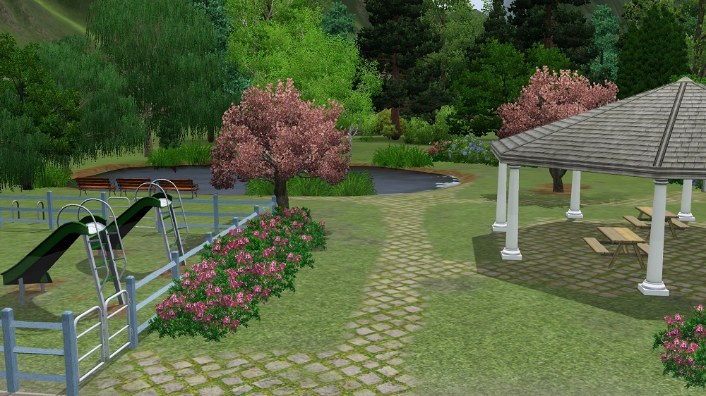 Mod the sims ponderers pond base game for Small pond base