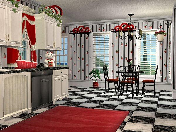 Cherry wallpaper kitchen 2017 grasscloth wallpaper - Fruit kitchen decorating theme ...