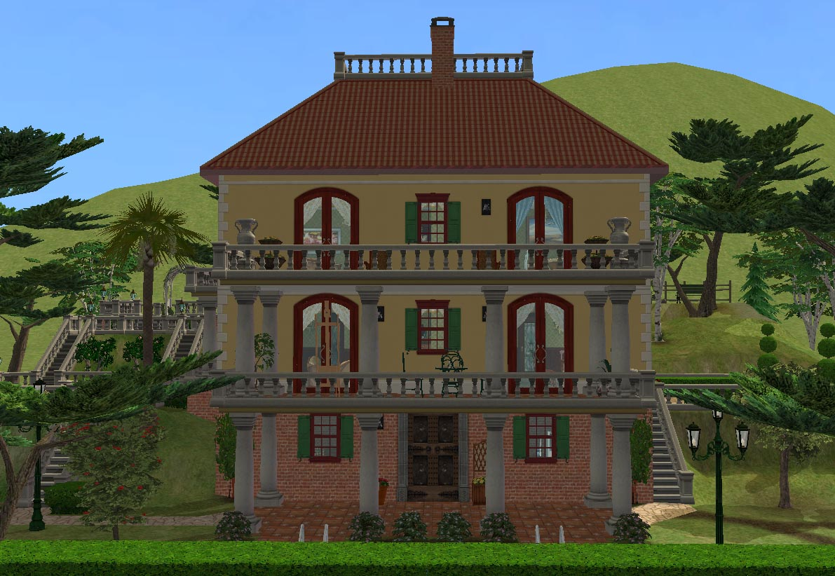 Mod The Sims Villa Francesca Old Italian Villa No Cc