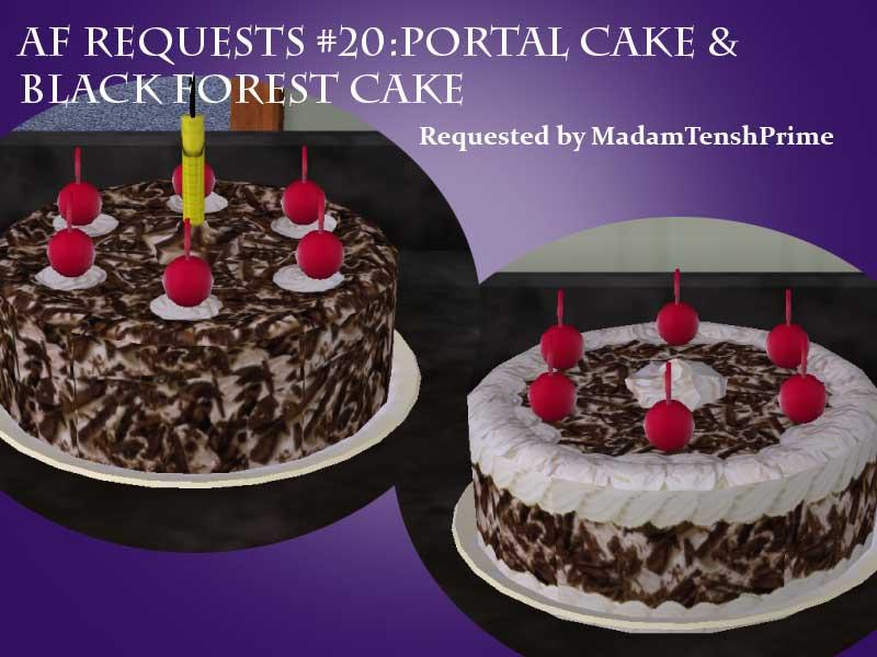 Mod The Sims Af Requests 20 Portal Cake Amp Black Forest Cake
