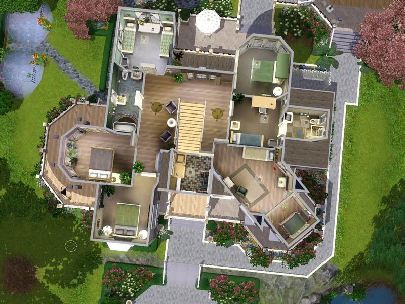 Mod the sims wisteria hill a grand victorian estate for Sims mansion floor plans