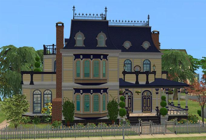 Mod the sims hillcrest manor a 6 bedroom victorian mansion for Sims 2 mansiones y jardines