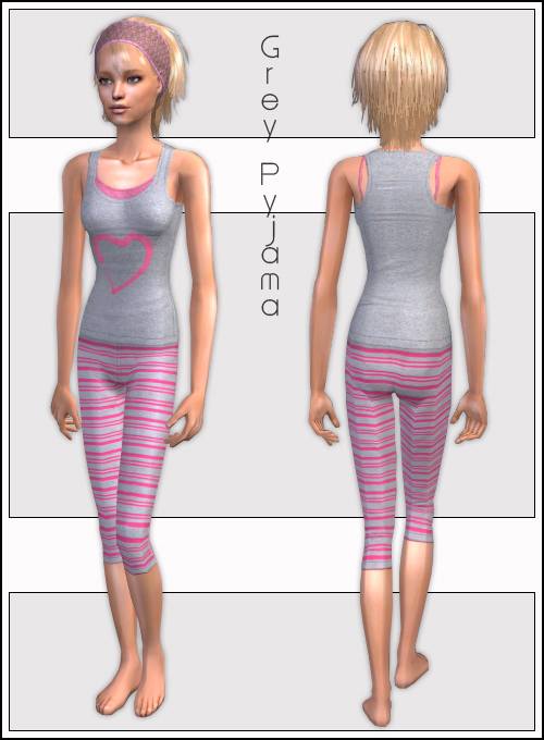 Mod The Sims - Two Teen Pajamas