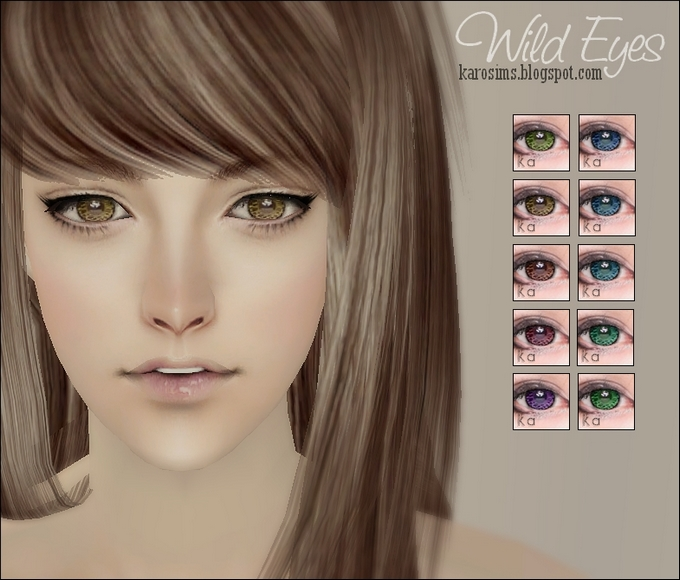 Mod The Sims Wild Eyes In 10 Colors