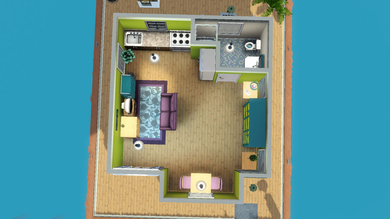 mod the sims micro mini home on the water