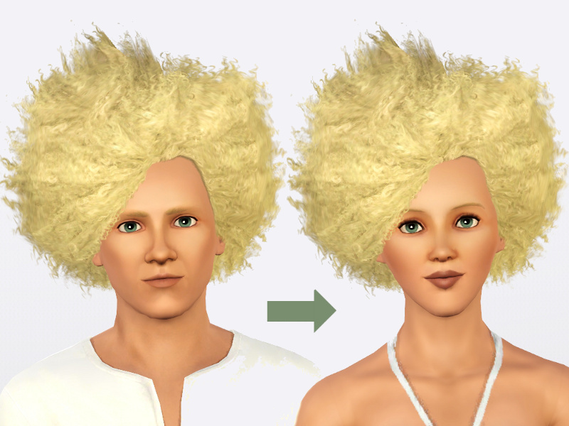 Mod The Sims - Updated! Gender Flip: Wild Fire Fro for the Ladies