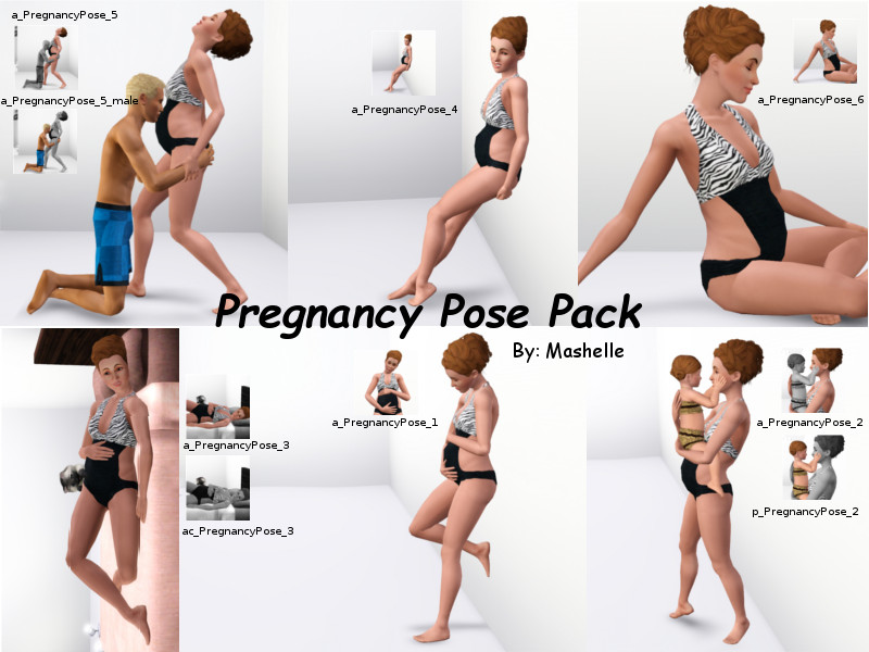 Mod The Sims Pregnancy Pose Pack By Mashelle