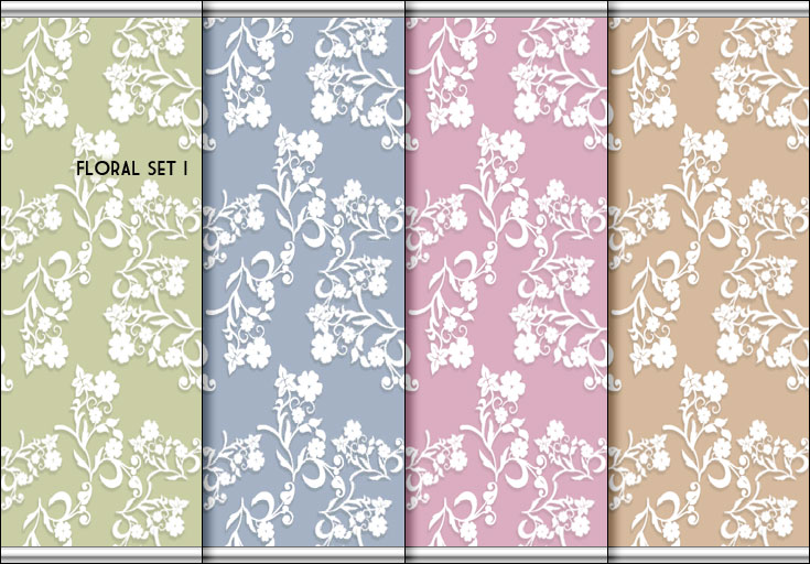 Mod The Sims 3 Floral Wallpaper Sets 4 Creamy Colors
