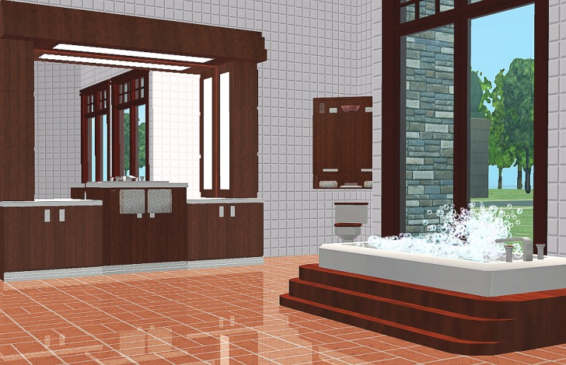 Mod the sims featured creator mizzessimmer for Bathroom ideas sims 3