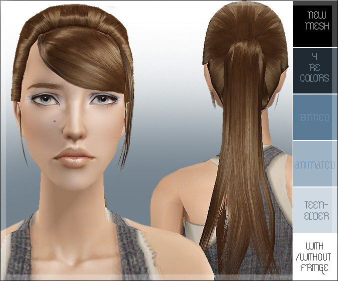the sims 2 hairstyle. Mod The Sims - Great ponytail