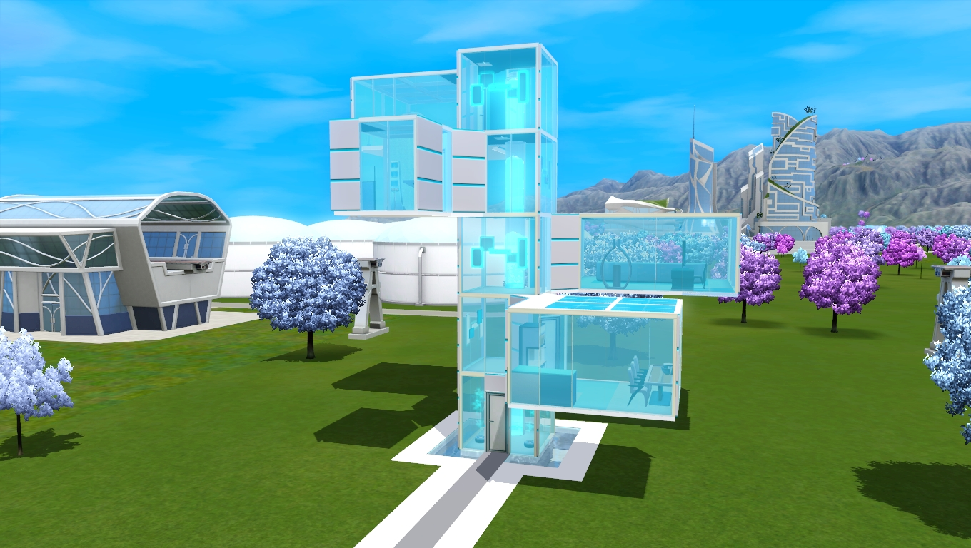 Big Bedroom Ideas Mod The Sims Cyber Cyan Glass House No Cc