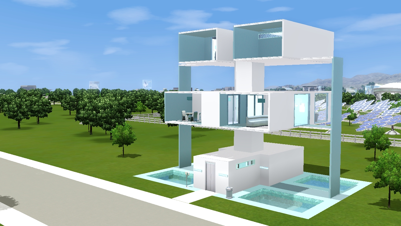 Mod the sims the plugs modern house no cc for Sims 3 cuisine moderne
