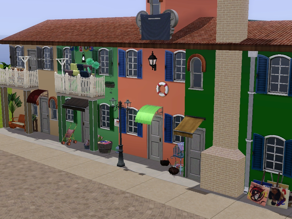 Mod The Sims - Venice - a Street reproduction of Burano