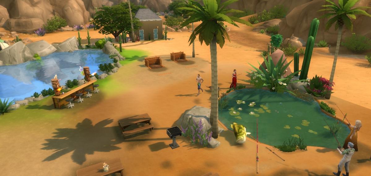 Sims  Fishing Lake Build