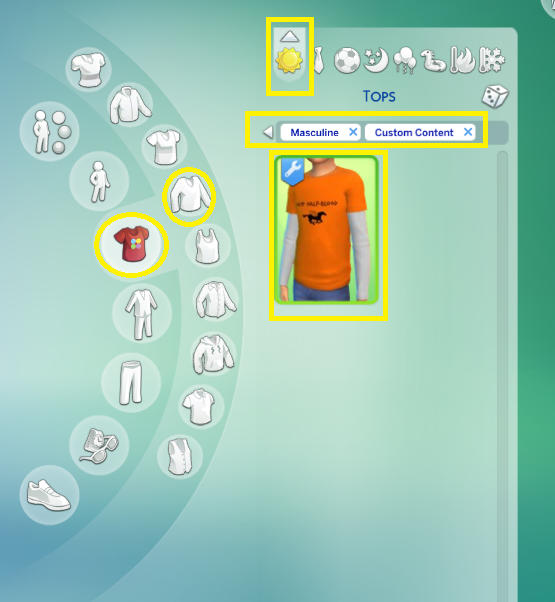 Mod The Sims - Half-blood camp children t-shirt (from Percy