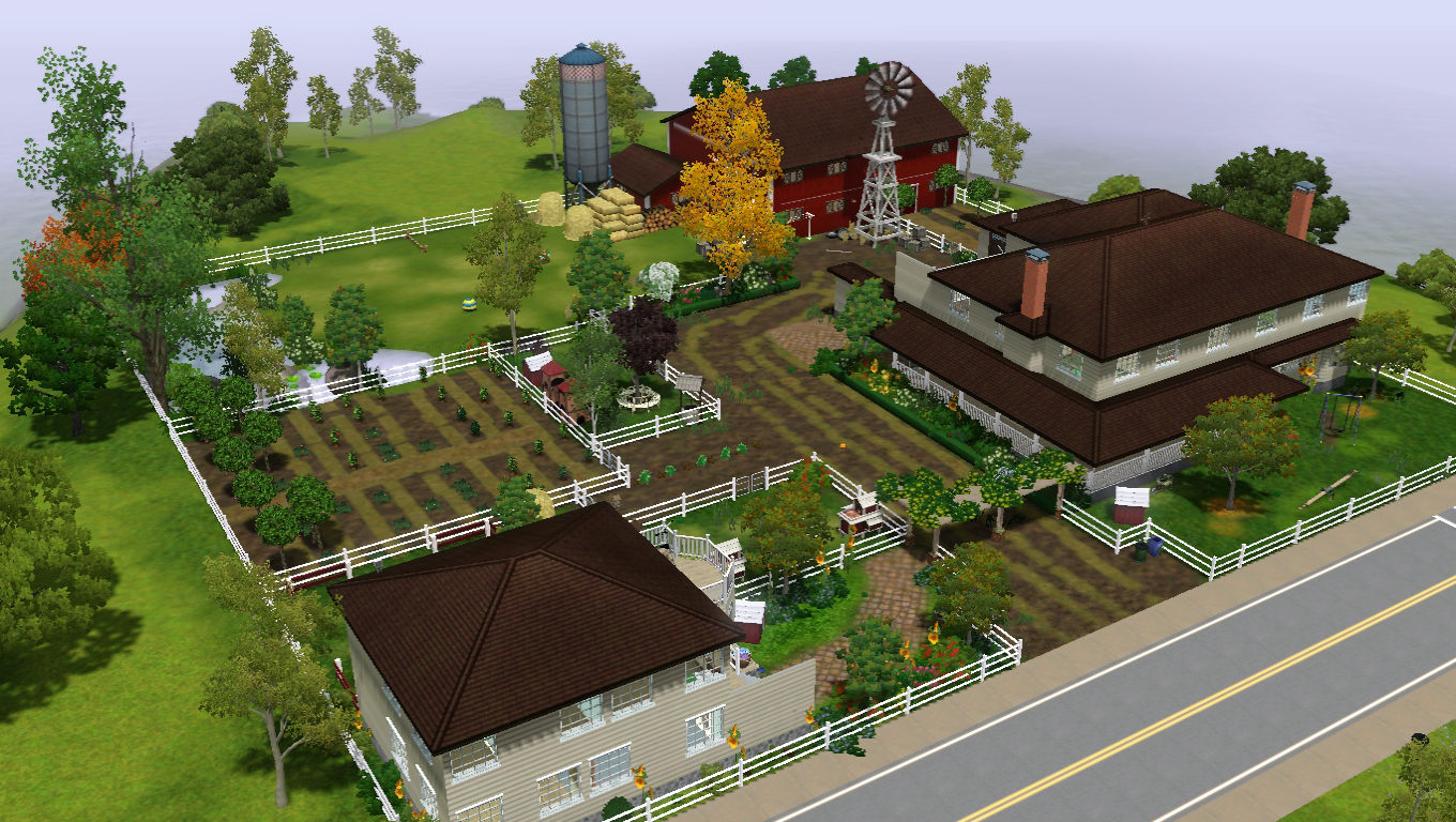 Mod the sims country livin 39 farm house for Classic house sims 3