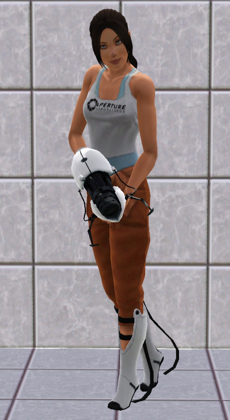 Mod The Sims Chell From Portal 2