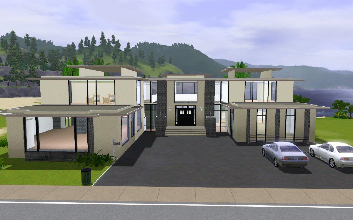 Mod the sims maison moderne for Maison moderne sims 3