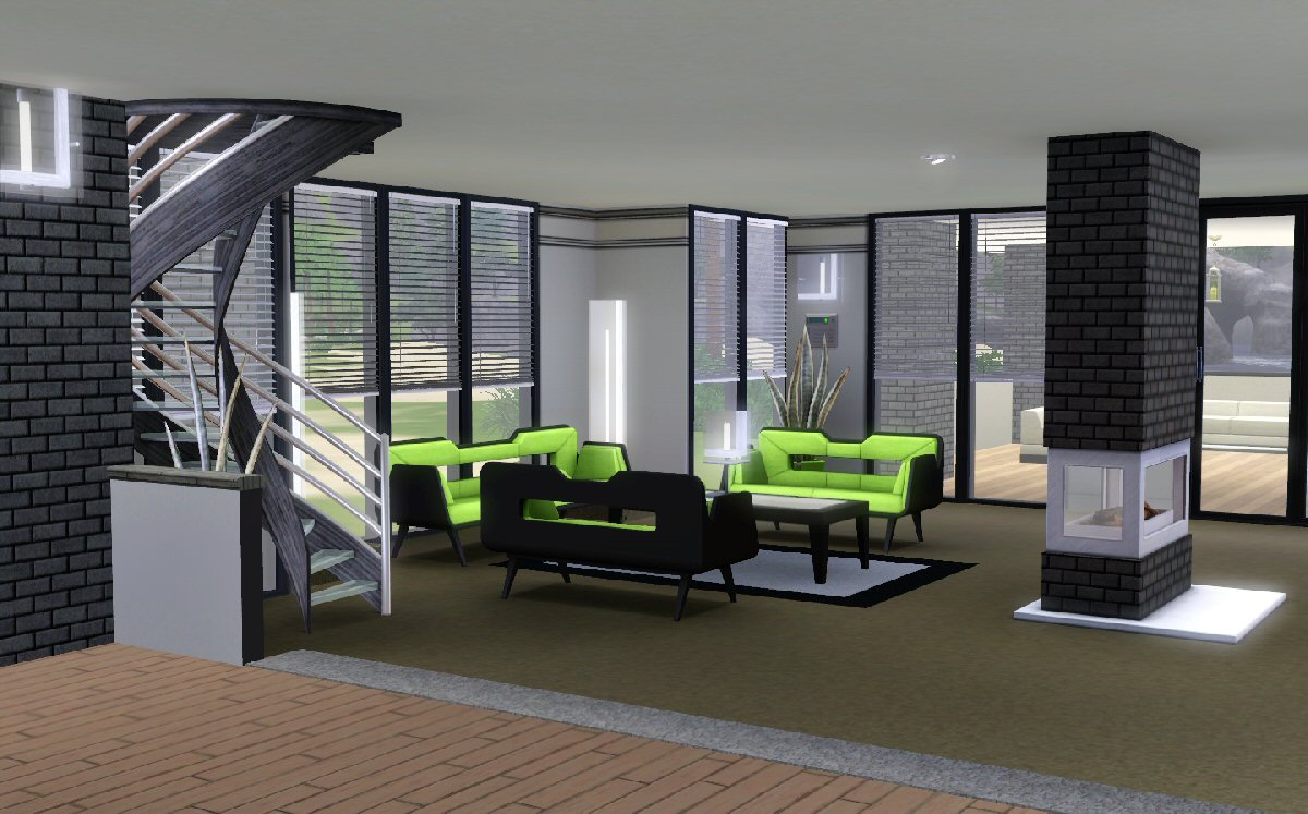 mod the sims maison moderne. Black Bedroom Furniture Sets. Home Design Ideas