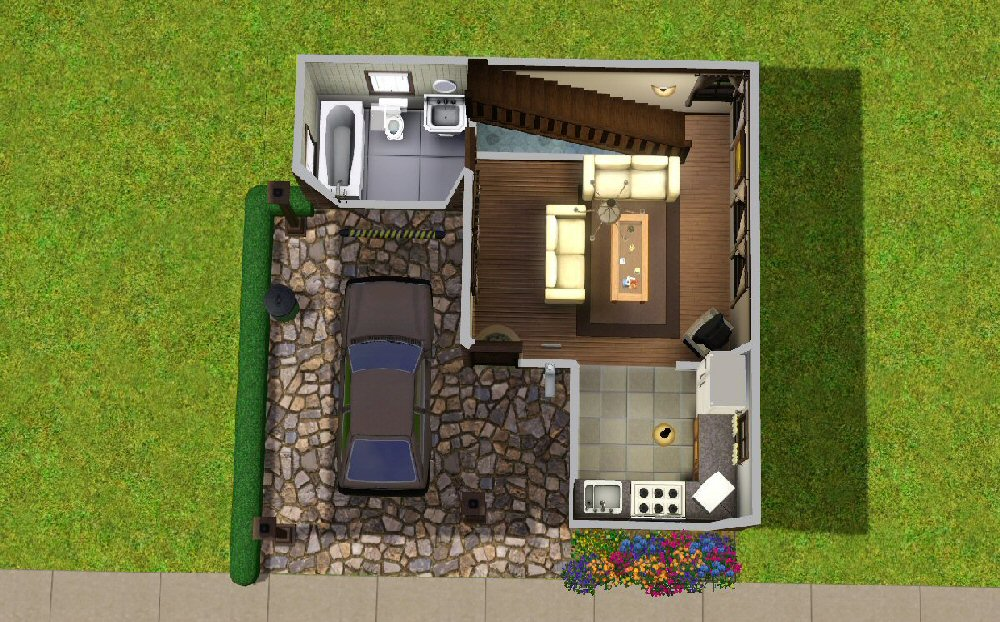 Mod the sims the tiny starter for Small starter house plans