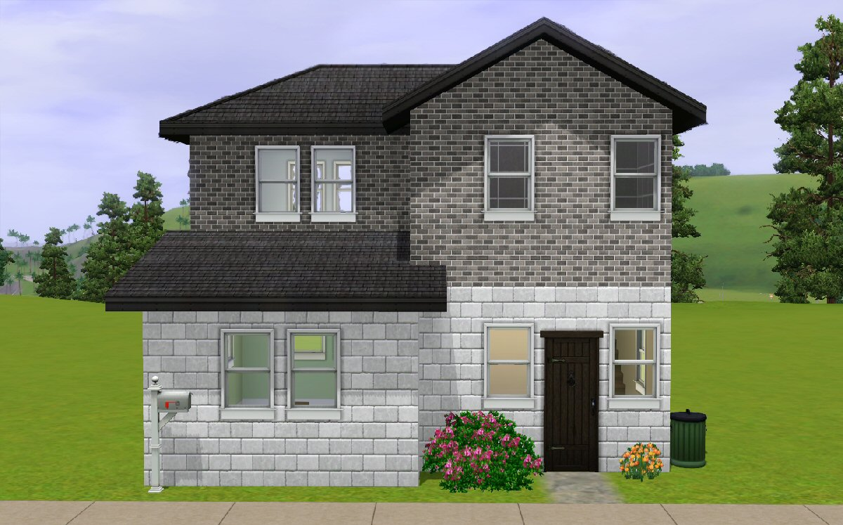 Mod the sims the budget starter house for Starter house plans