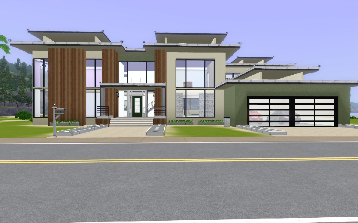 Mod the sims modern beach house for Contemporary house pictures