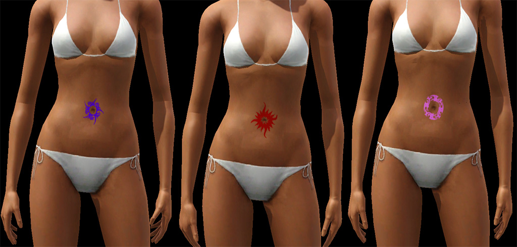 Mod The Sims - Belly Button Tattoos For Women