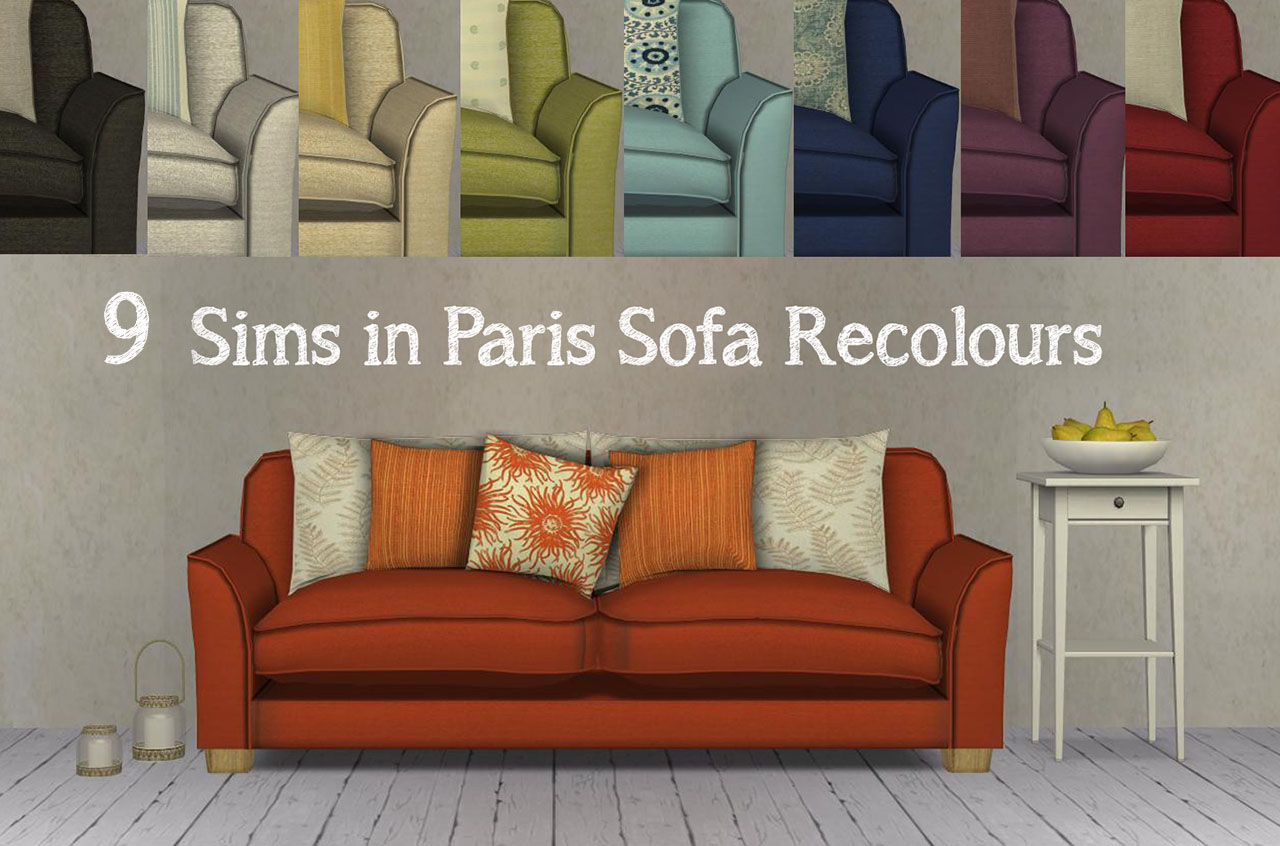 Mod The Sims 9 Sims In Paris Sofa Recolours