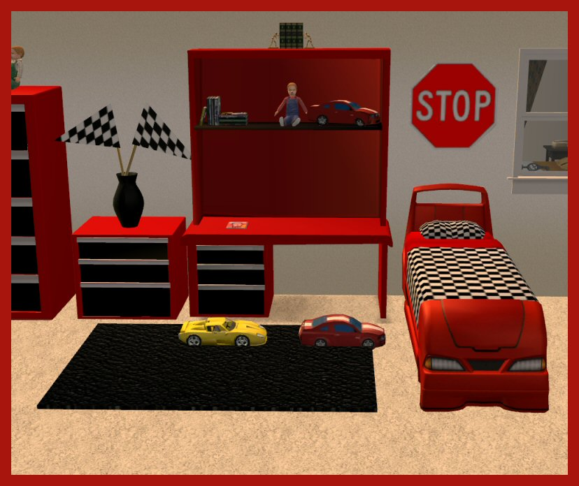 Mod the sims updated jan 10 2009 toolbox bedroom set for Online bedroom design tool