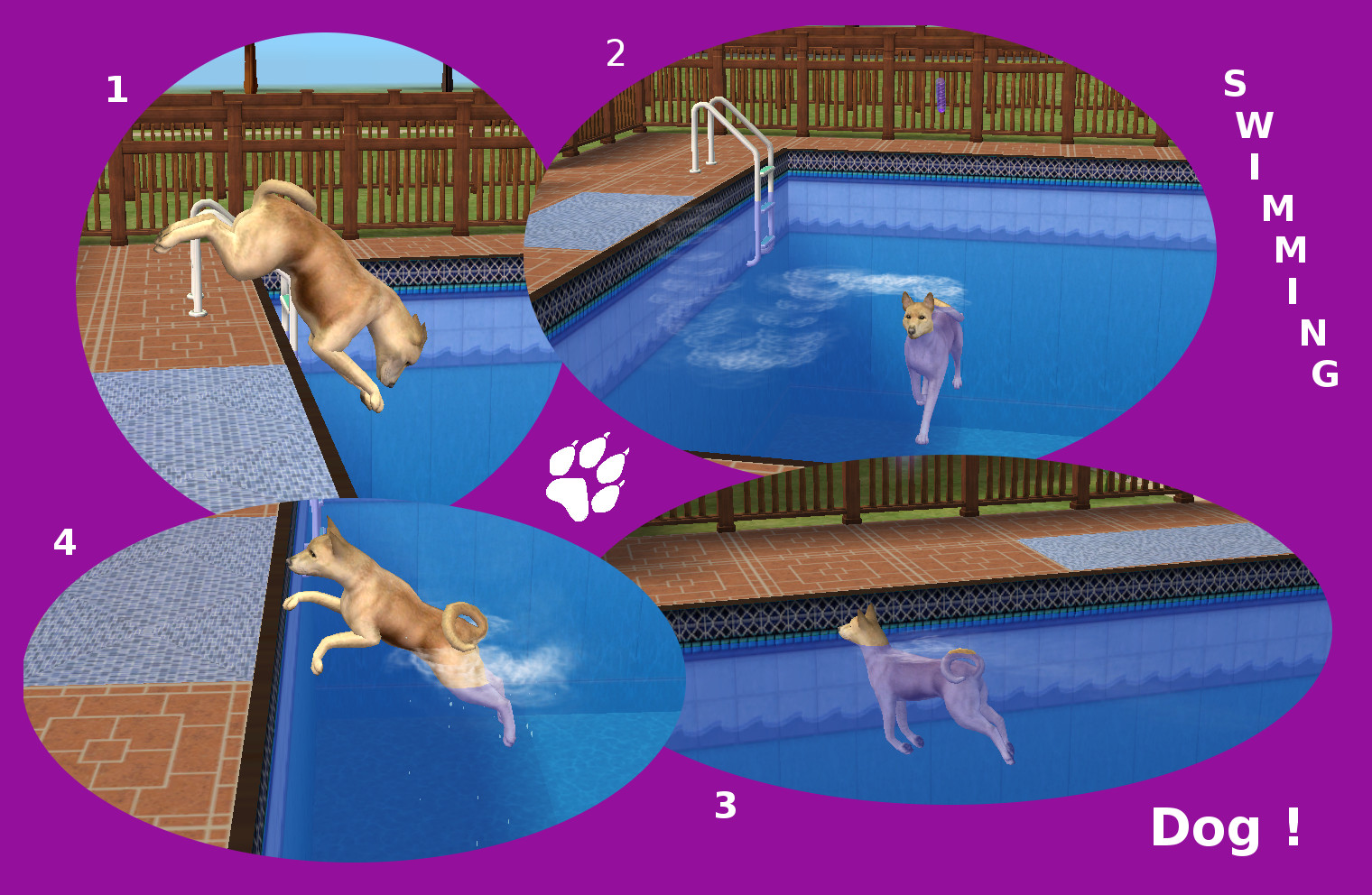 Mod The Sims In And Out Invisible Pool Spot For Athlete Sims Large Dogs Swimming
