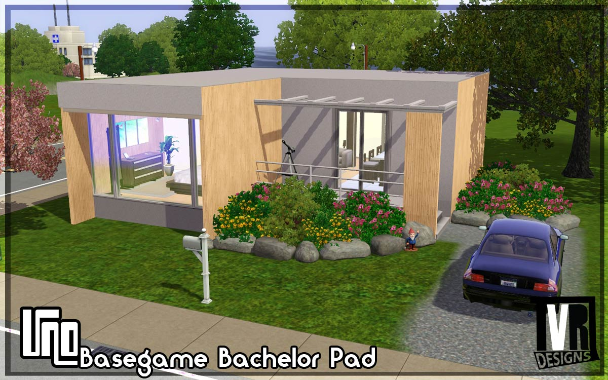Mod the sims uno basegame bachelor pad no cc by tvrdesigns - Bachelor house ...
