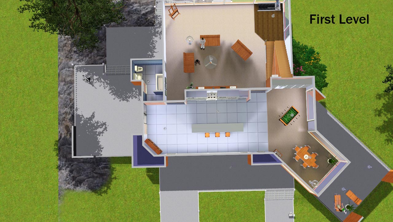 Mod the sims twilight cullen home now with 4 bedrooms for Twilight house floor plan