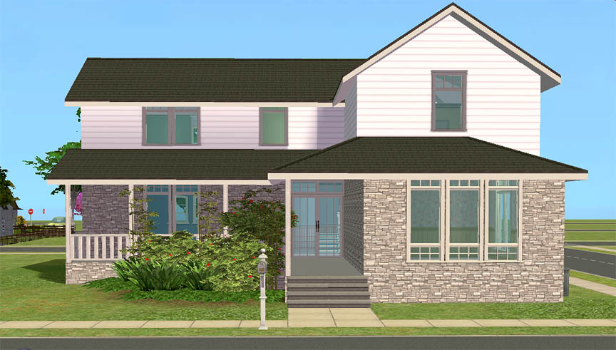 Mod the sims lark house spacious 3 bedroom starter for Sims 3 6 bedroom house