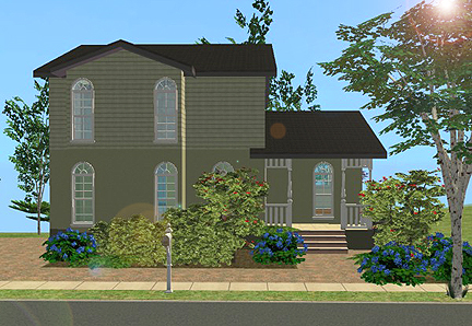 mod the sims - 2 paradise park - traditional style 3 bedroom house