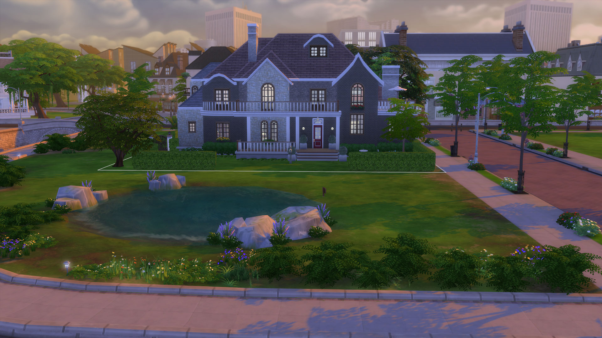 Mod the sims 4 windsor grove 4 bedroom family home for Legacy house