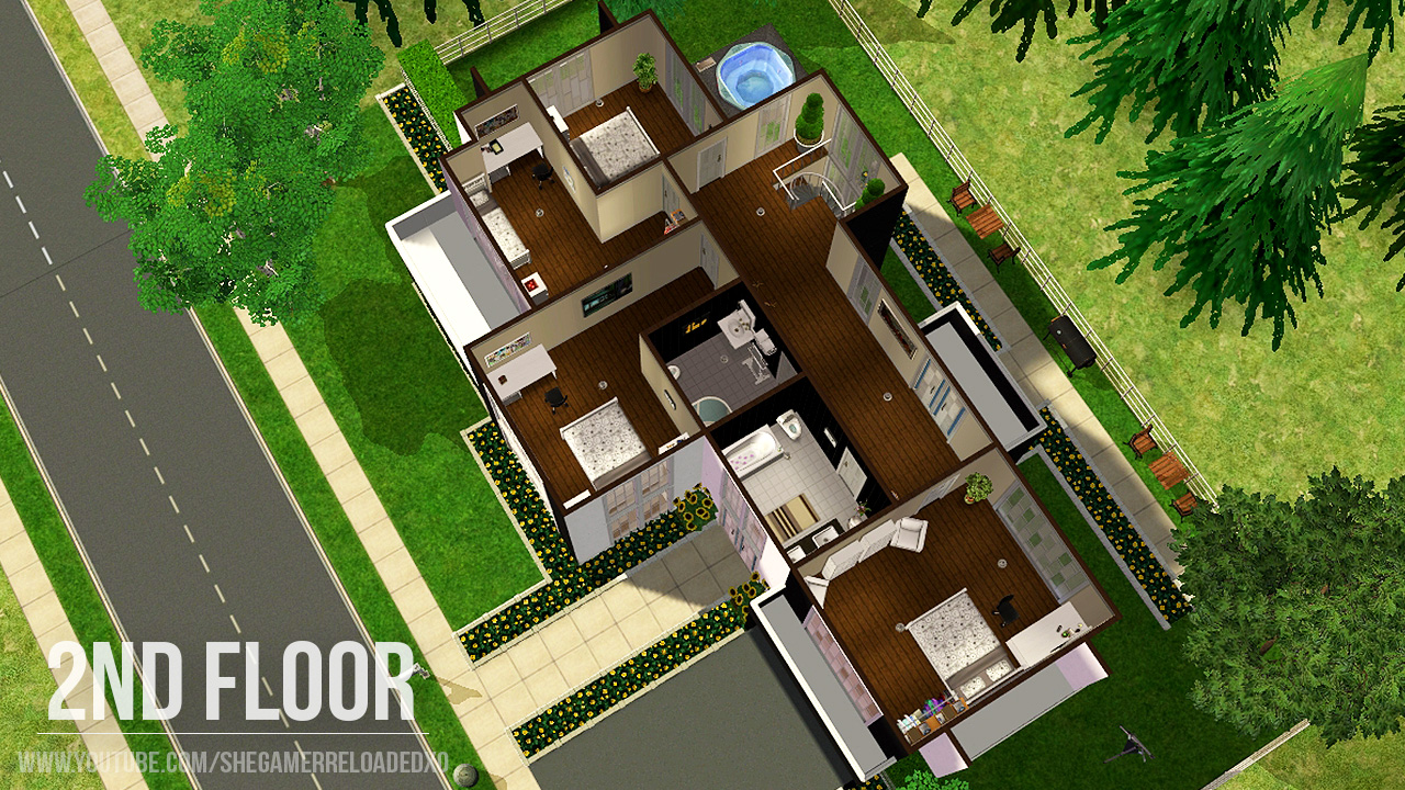 Mod the sims maxis makeover european townhouse no cc for Floor 6 reloaded
