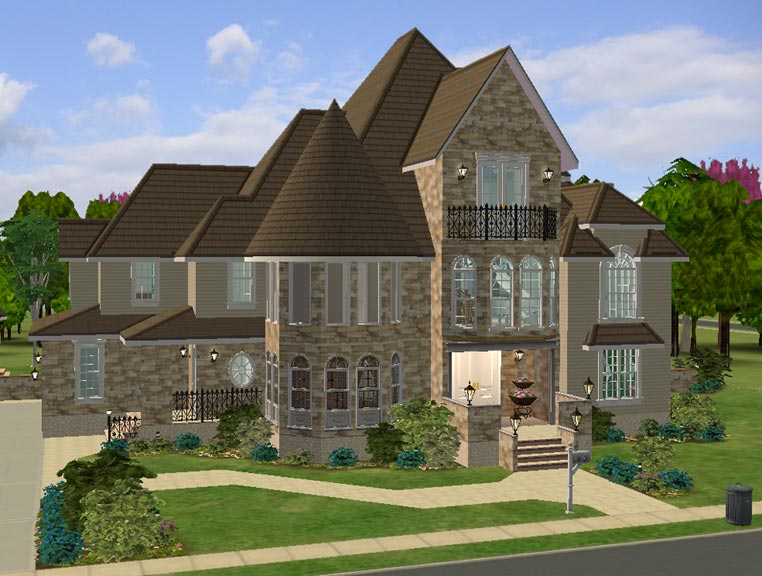 Mod the sims the modern victorian for Modern day houses