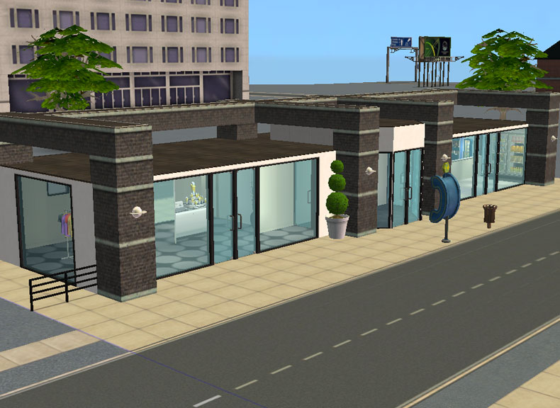Sims  How To Place Build Shopping Mall