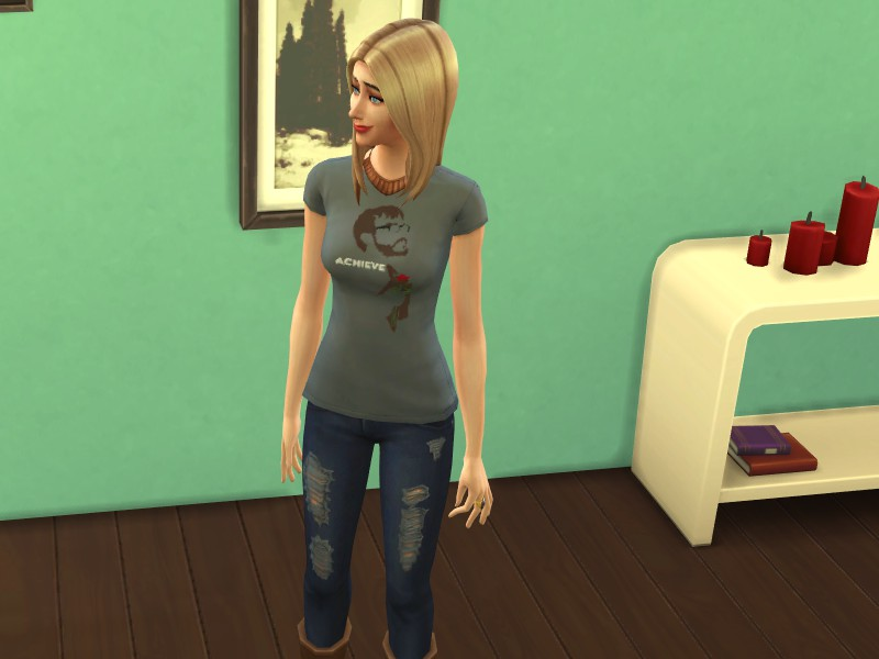 Mod The Sims Achievement Hunters Achieve Shirts For Females