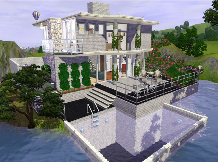 Mod The Sims Sunflower Breeze Modern House 14 sims