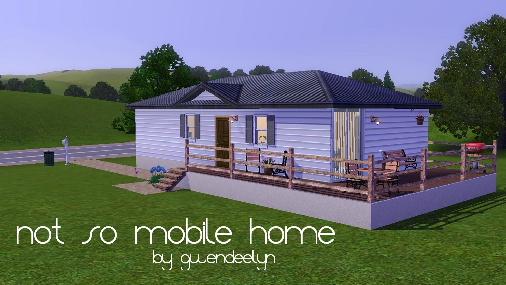 Mod the sims not so mobile home a base starter One bedroom one bath mobile home