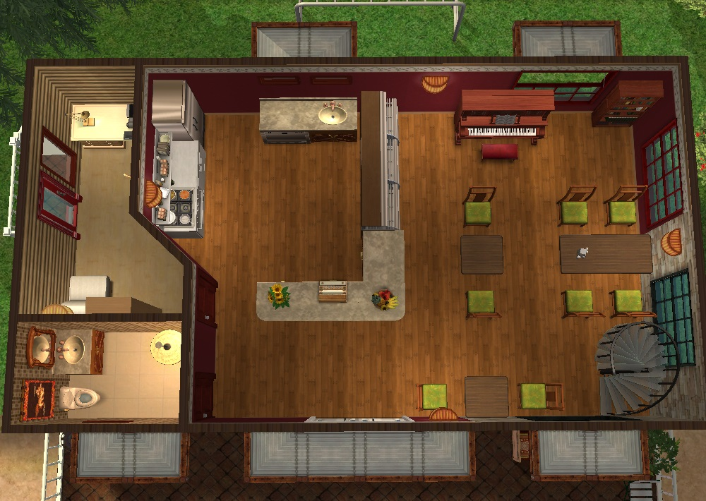 Mod the sims restaurant petite