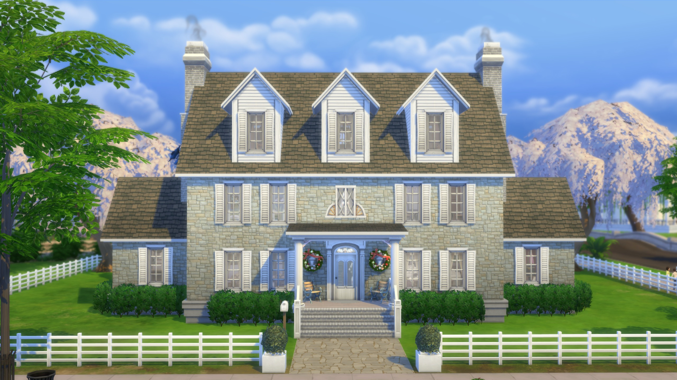 Mod the sims colonial sanders no cc for Classic house sims 4