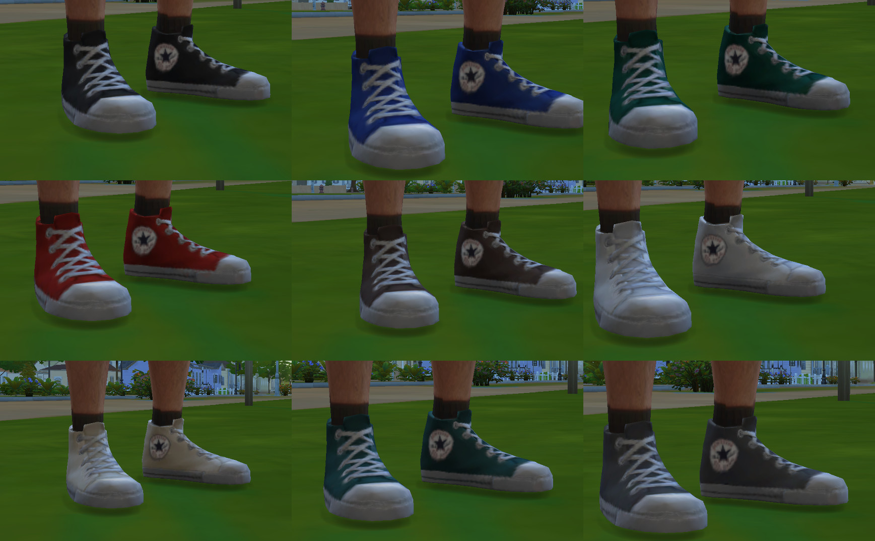 Mod The Sims Converse Shoes Maxis Shoes Re Textured