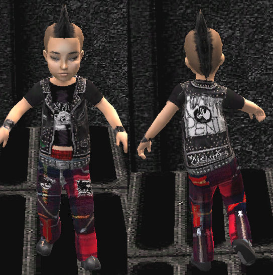 mod the sims mommys little monsters punk rock toddler