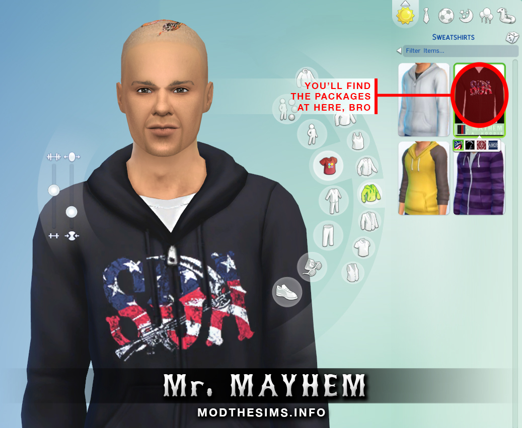Mod the sims sons of anarchy hoodie zipper set
