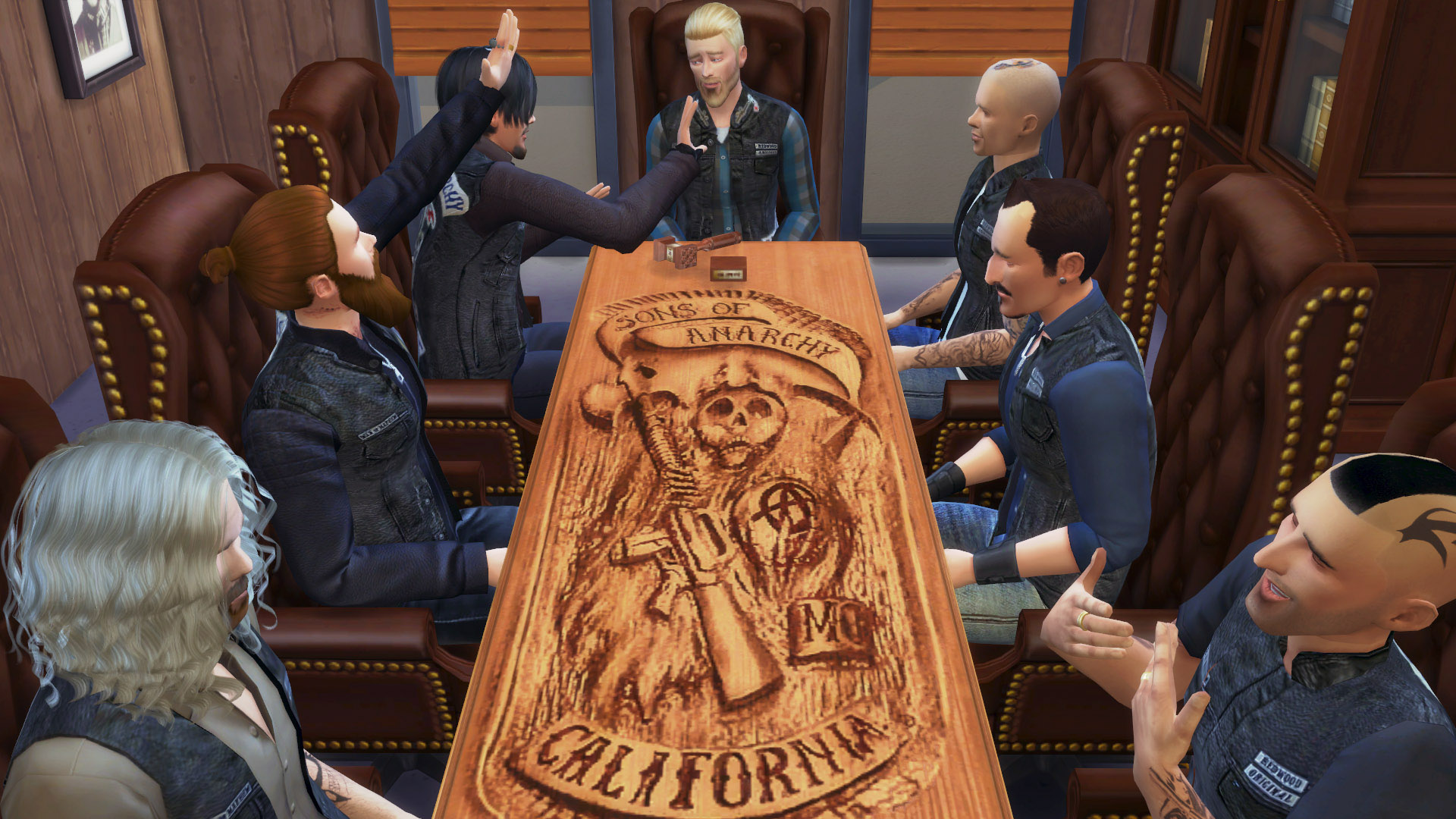 Mod The Sims Carved Reaper Table Sons Of Anarchys Table