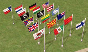 Mod The Sims High Res Flag Pole Flag