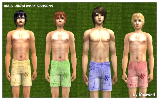 Mod The Sims - Four seasons Adult Male Underwear